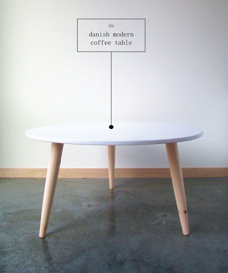 Diy cómo hacer una mesa de centro estilo nórdico. Danish modern table DIY