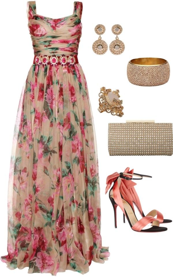 """Sin título #816"" by pandrea712 on Polyvore I really like the dress.. the shoes would kill me."