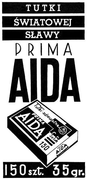 Retro REKLAMA - Tutki światowej sławy PRIMA AIDA - 1937 rok
