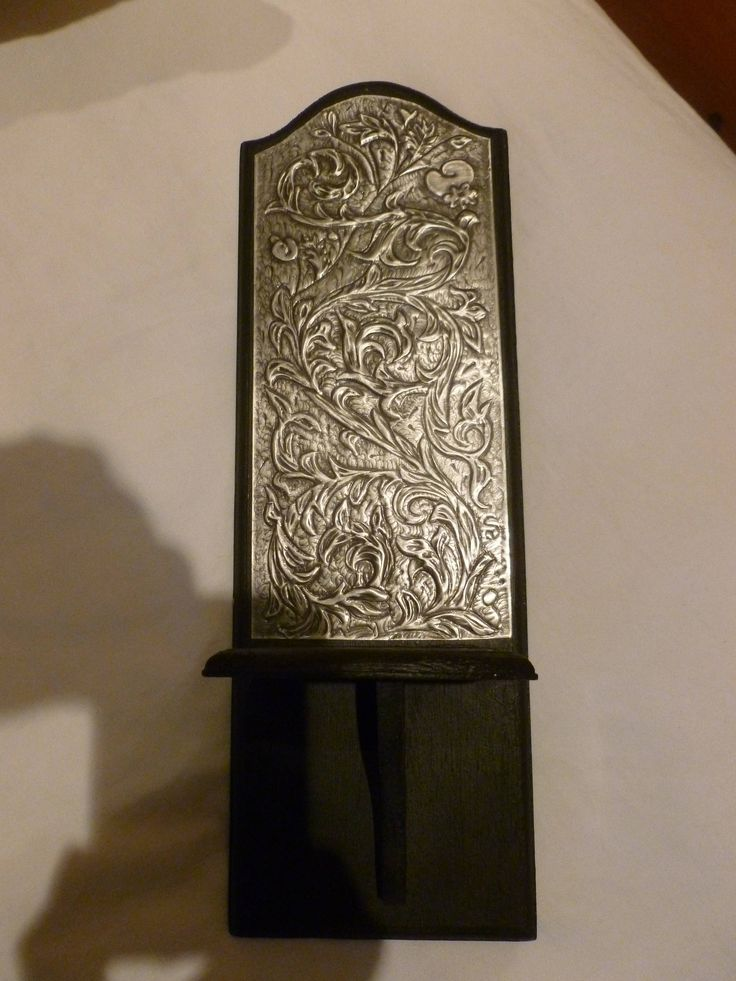 Hand Crafted Pewter Wall Candle Sconce by PewterConcepts on Etsy