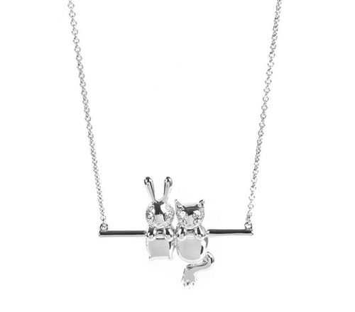 Marc by Marc Jacobs Bunny and Rue Pendant available in Silver, Gold, and Rose Gold