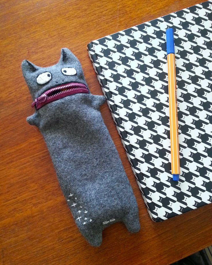 my pencil case monster.