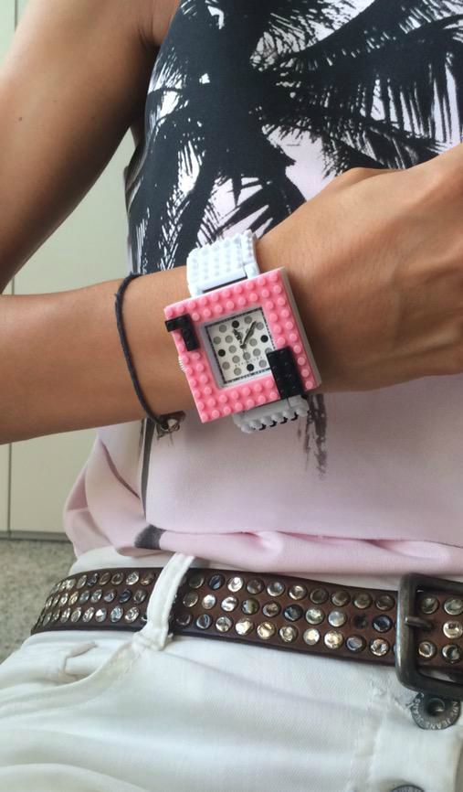 Totally pink with Nanoblock watch!