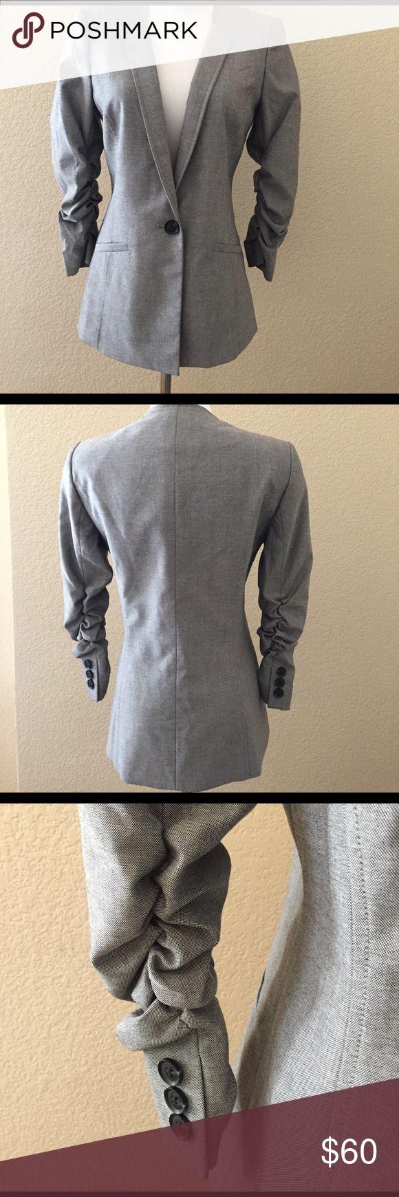 NWT ANTONIO MELANI BLAZER NET Antonio Melani blazer.  Size 2. Scrunched up sleeves.  Button in front. ANTONIO MELANI Jackets & Coats Blazers