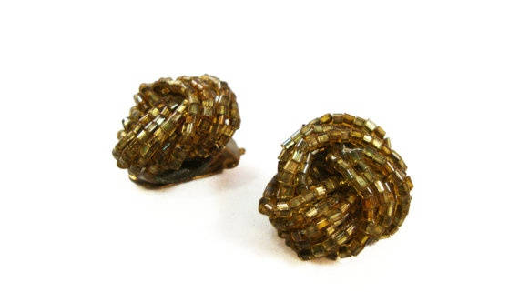 Vintage Knot Earrings by TreasuresOnBroadway, $26.00