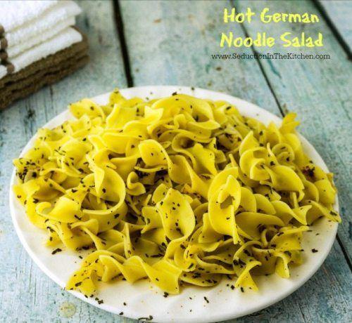 Hot German Noodle Salad #SundaySupper » Seduction in the Kitchen