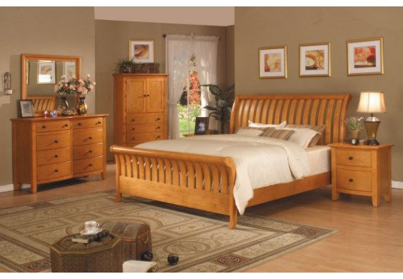 bedroom+color+ideas | Ideas How to Adorn Bedroom with Pine Furniture | Home Improvement ...