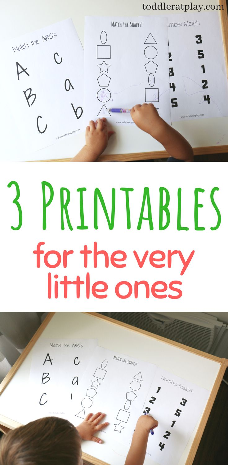 3 Printables For The Very Little Ones