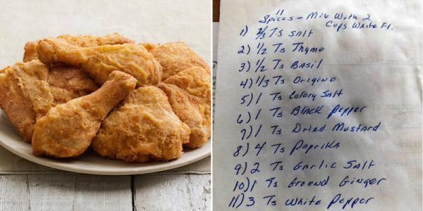 Reporter Accidentally Finds KFC's Secret Recipe On Back Of Old Family Photo
