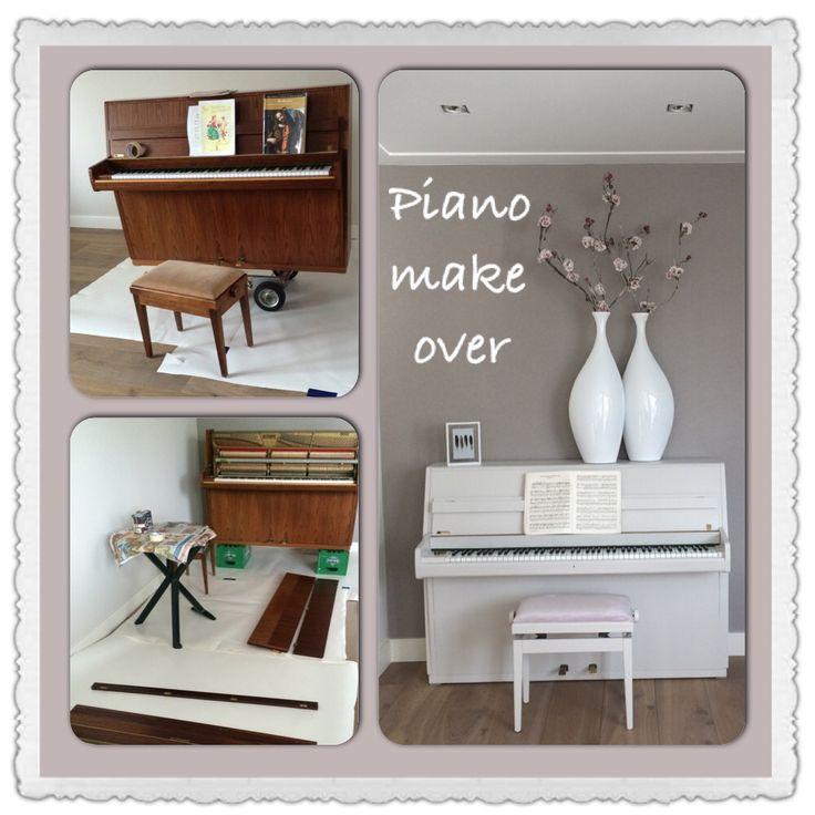 Piano make over, piano verven