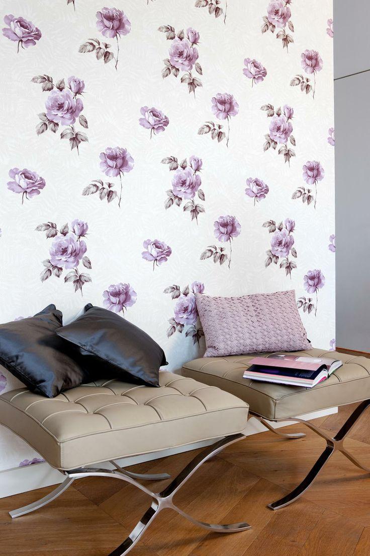 Pink Wallcoverings / Roze behang collectie Gardens of Amsterdam Annet van Egmond - BN Wallcoverings