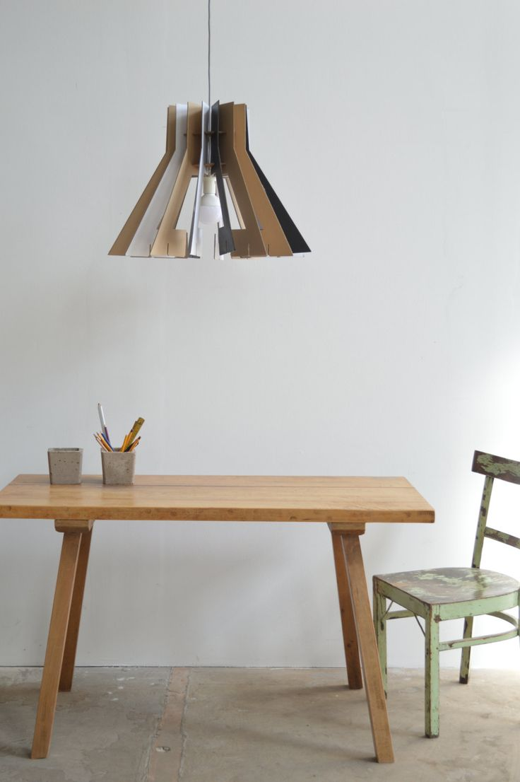 Cardboard lamp shade by KreARTON on Etsy