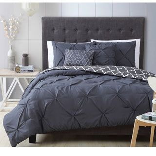 Avondale Manor Ella Pinch Pleat Reversible 7-piece Comforter Set | Overstock.com Shopping - The Best Deals on Comforter Sets