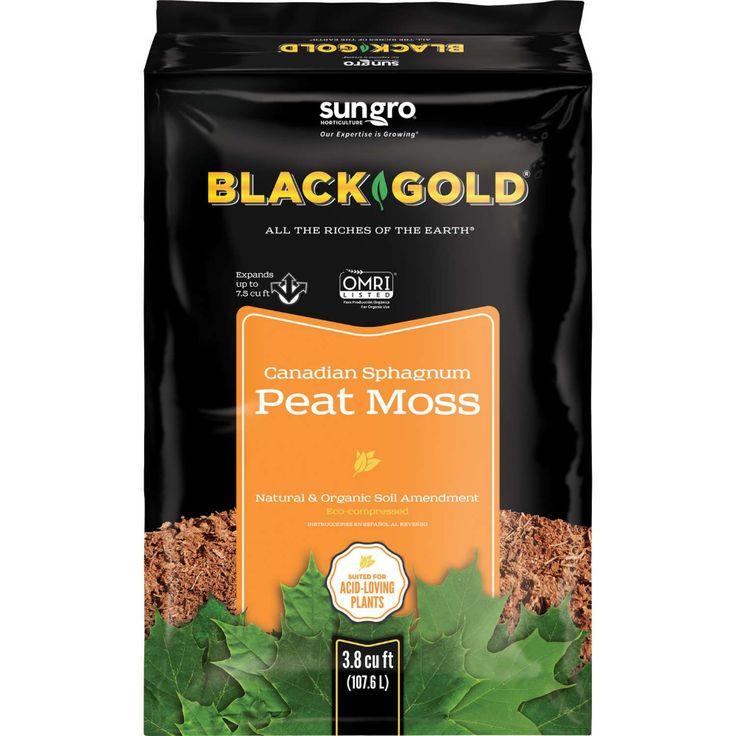 Black Gold Organic Sphagnum Peat Moss 3.8 cu. ft. in 2020