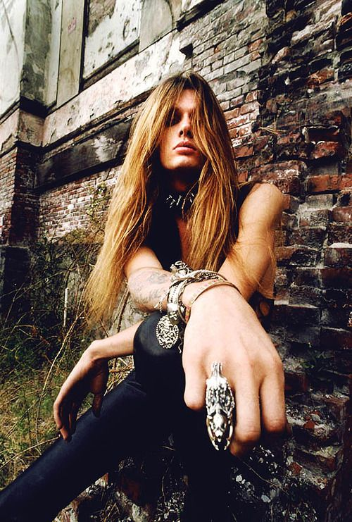 Sebastian Bach...he could be a girl he's so gorgeous