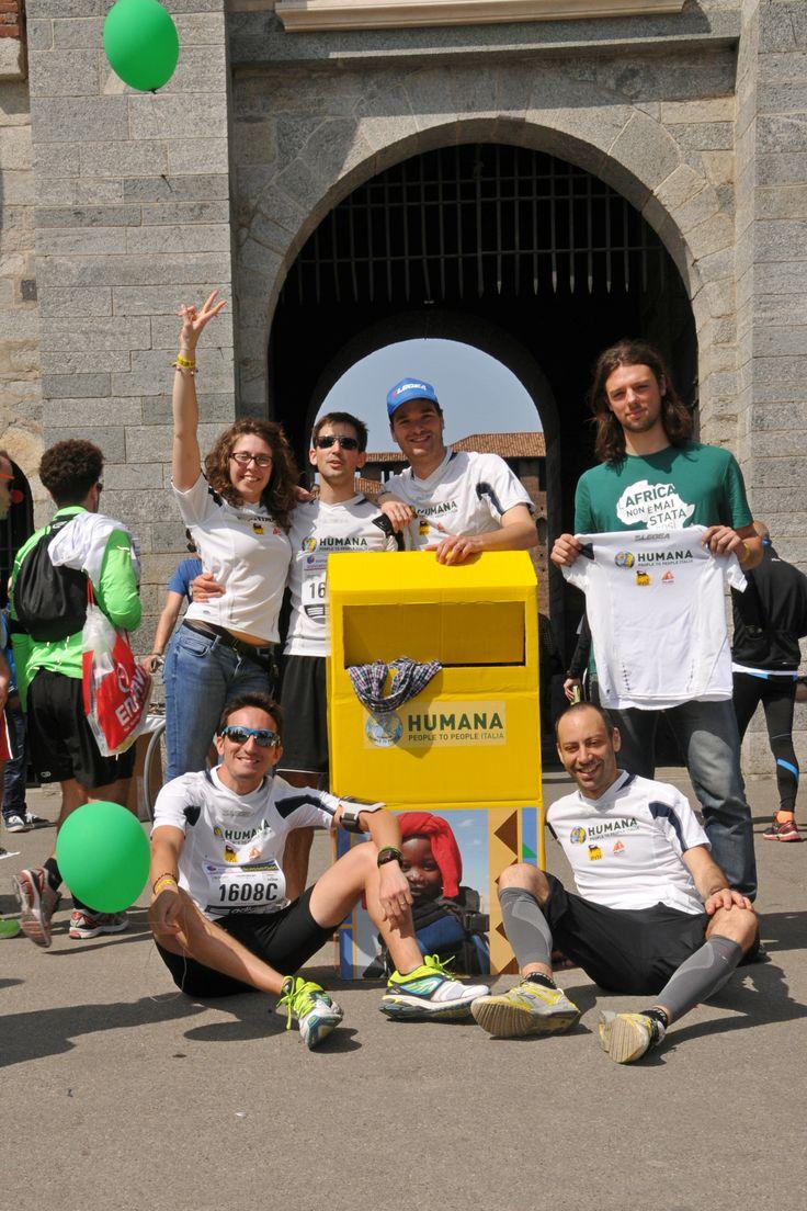 HUMANA People to People Italia alla Milano Marathon del 6 aprile 2014!   #milanomarathon #staffettaMi #milan #running #runners #run #milano