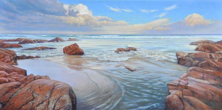"""Last Light, Point Arkwright"" by Kerry Nobbs - Tiffany Jones Fine Art Gallery"