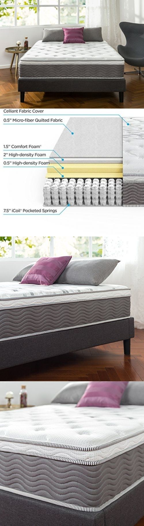 Mattresses 131588: Zinus 12 Inch Performance Plus Extra Firm Spring Mattress,  Twin ->