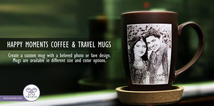 Create Your Own Mugs, Personalized Coffee & Travel Mugs smile emoticon:)  Make a style statement with one of our personalized photo mugs. Put a logo, photos, a slogan or whatever captures your imagination.  Check our website for more! www.medivadubai.com