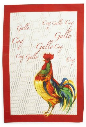 Sur La Table Italian Rooster Kitchen Towel