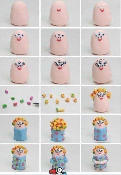 Мобильный LiveInternet Лепим героев мультиков из пластилина или глины :) | TashaLink - Кулинария • Вкусные Рецепты |