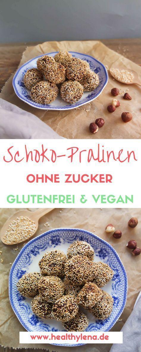 Gesunde Schoko Pralinen selber machen – vegan, glutenfrei & fettarm – #fettarm…
