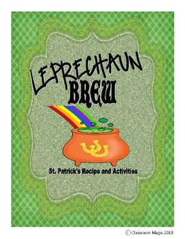 Leprechaun Brew Activity Pack $: Brew Activity, Leprechaun Brew, Teaching Ideas
