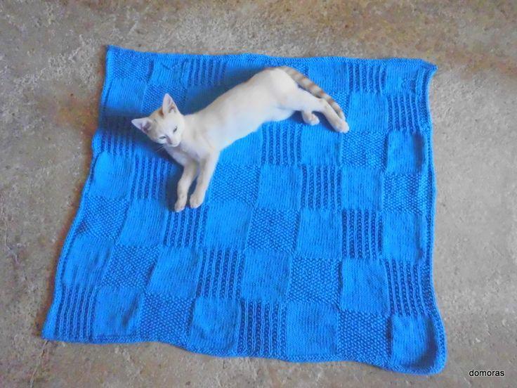 NARO, Strickanleitung einer Decke in Baumwolle oder Wolle bei domoras