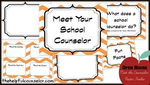 Back-to-School Open House: Meet the School Counselor Poster - The Helpful Counselor