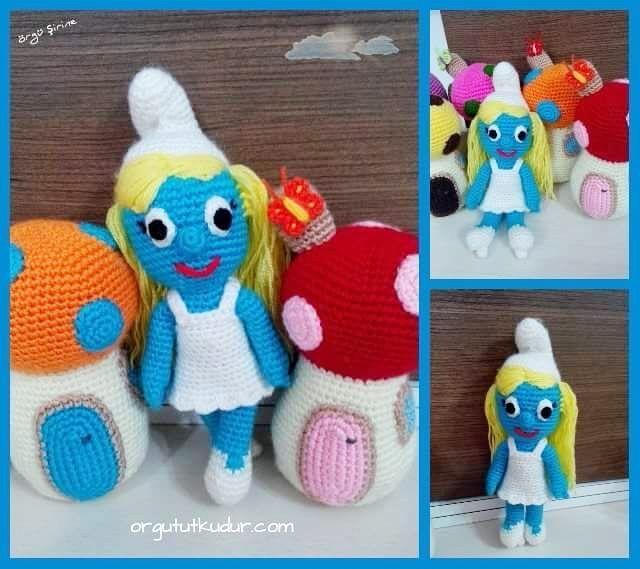 Örgü şirine www.orgututkudur.com #örgü #şirine #orgututkudur #siparişalınır #amigurumiorguoyuncakevi #amigurumi #smurfette #smurfs #crochet #knitted #cute #bebeklerim #bebeğim #hobby #hobi #handmade #sağlıklı #organikoyuncak #elyapımı #elişi #mantar #ev #şirinler #10marifet @10marifet