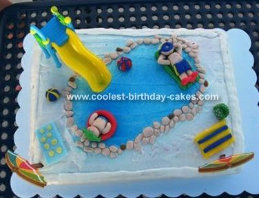 17 best images about modelage piscine on pinterest - Swimming pool birthday cake pictures ...