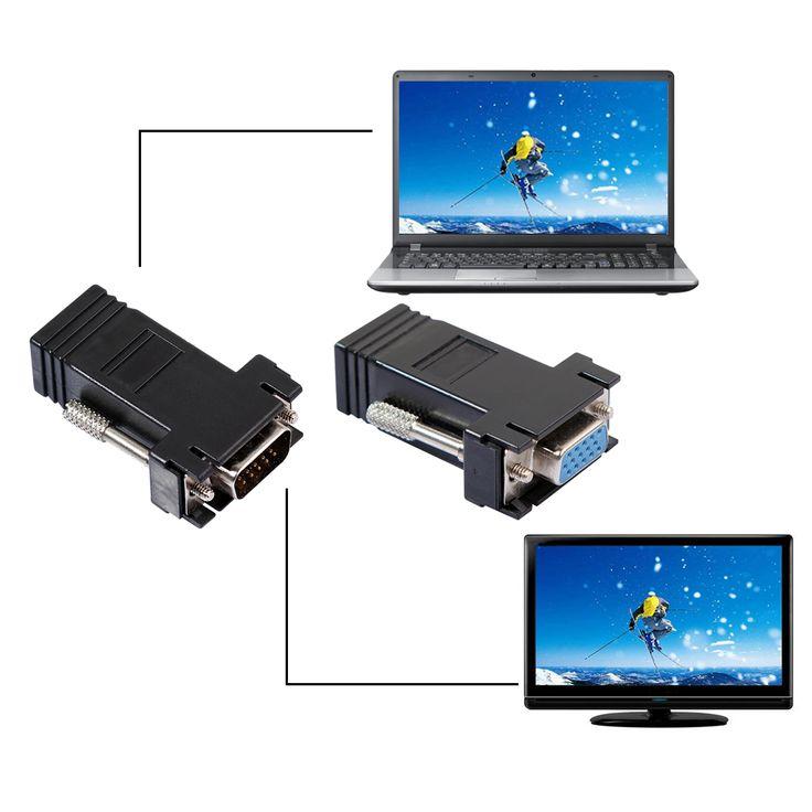 2016 neue 3 Stil Netzwerk Kabel Adapter VGA Extender Weibliche/Stecker auf Lan Cat5 Cat5e/6 RJ45 Ethernet weibliche Adapter L3FE