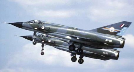 Pair of Royal Australian Air Force Dassault Mirage A3-10s of 3 Squadron.