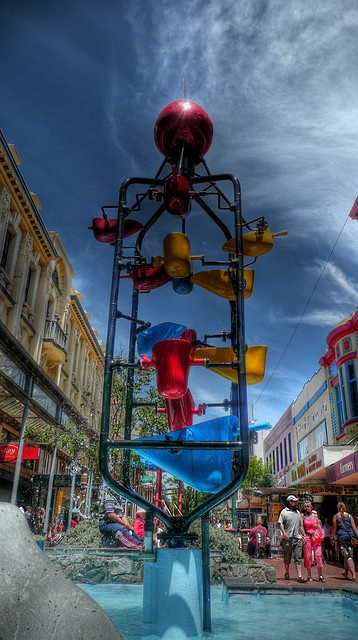 Cuba Mall is one of Wellington's most lively pedestrianised areas