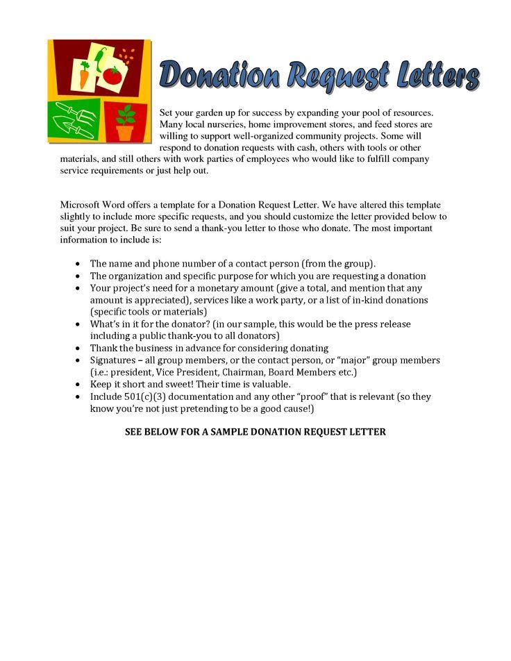 Más de 25 ideas increíbles sobre Donation letter samples en Pinterest - personal sponsorship letter