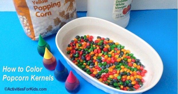 colored popcorn kernels kid friendly foods