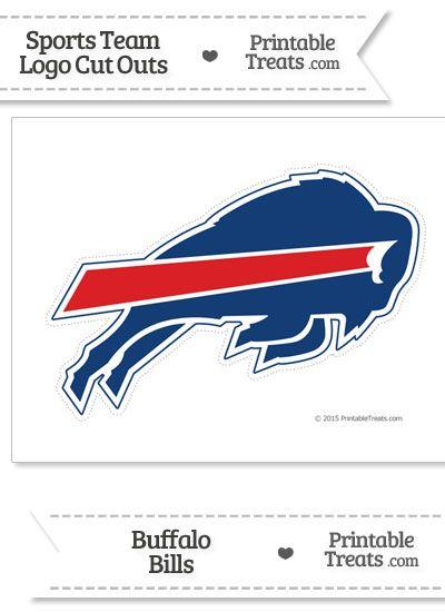 Large Buffalo Bills Logo Cut Out from PrintableTreats.com
