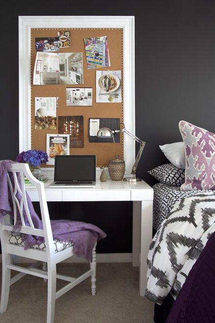 The trick to making a home office in your bedroom look attractive is to use furnishings that look like they belong in the bedroom, not the boardroom.