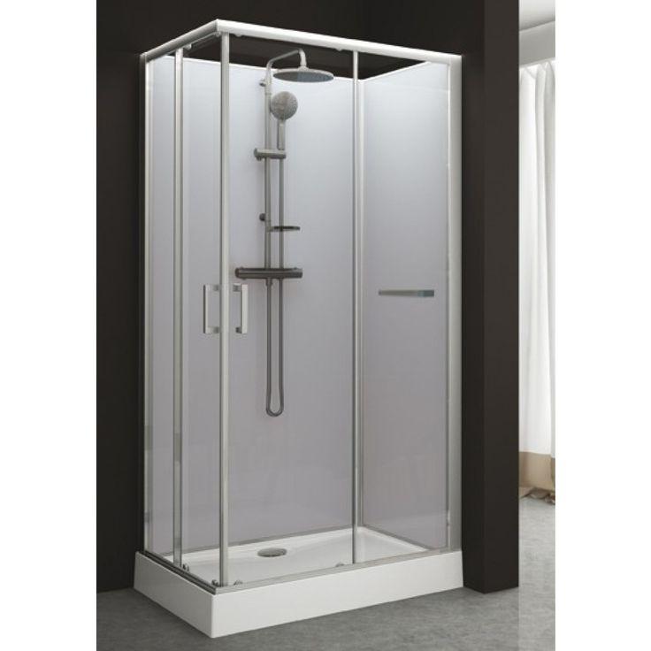 cabine de douche rectangulaire 80 x 120 cm portes coulissantes kara leda marie bergues. Black Bedroom Furniture Sets. Home Design Ideas