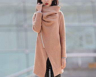 90% wool wine red jacket winter coats for women by YL1dress