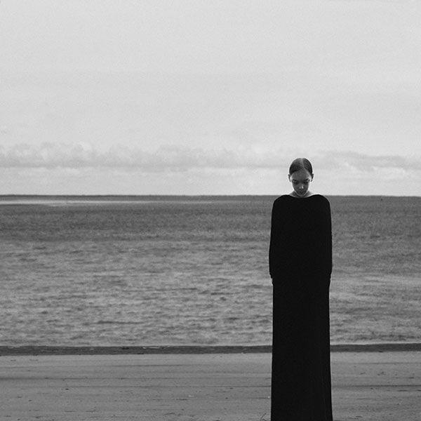 Portrait at the ocean.