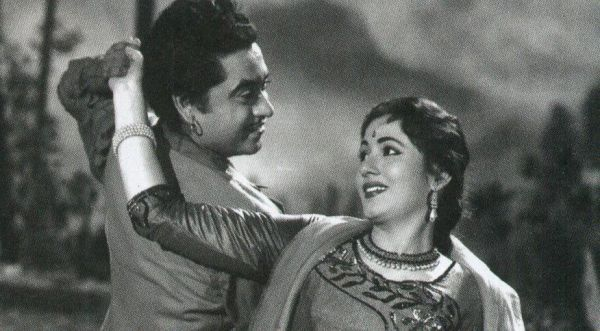 Kishore Kumar and Madhubala.