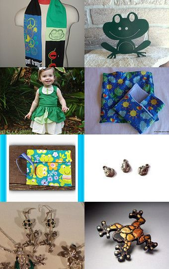FROG JUMPING DAY by mama chei on Etsy--Pinned with TreasuryPin.com