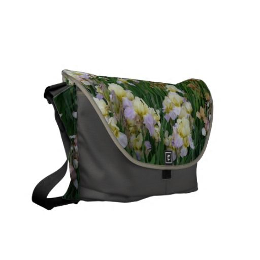 New Day Gardens Saddle Bag- Irises 'Enriched' Courier Bag