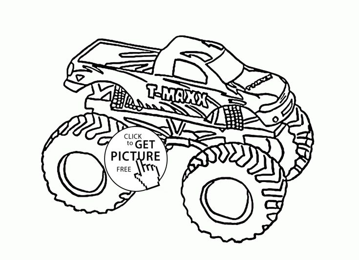 modest decoration monster truck coloring pages mud games pinterest ...