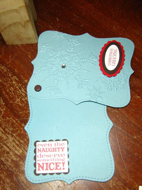 Stampin Up Top Note giftcard holder