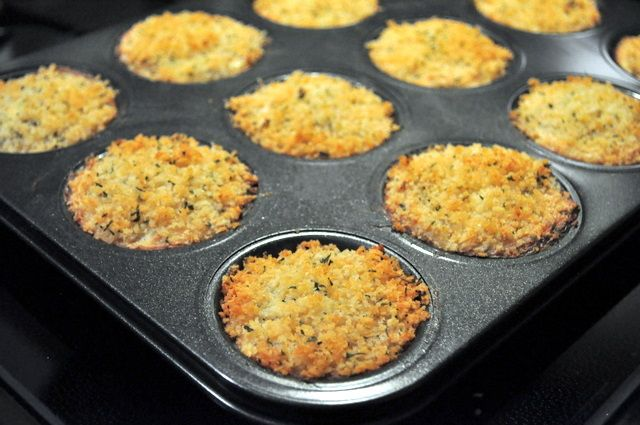 baked crab cakes - I use muffin tins for salmon cakes too!