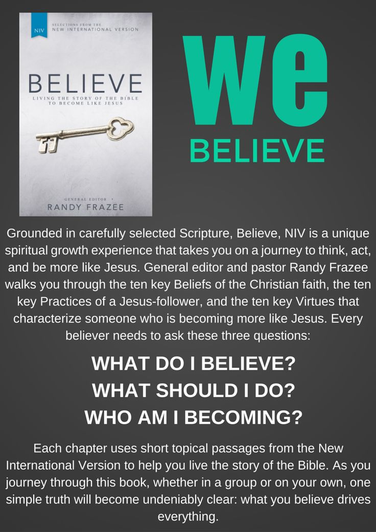A life-changing spiritual growth experience for you, your family, small group or Church. Know what you believe and why it matters. #BelieveSA