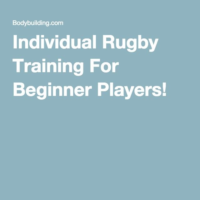 Individual Rugby Training For Beginner Players!