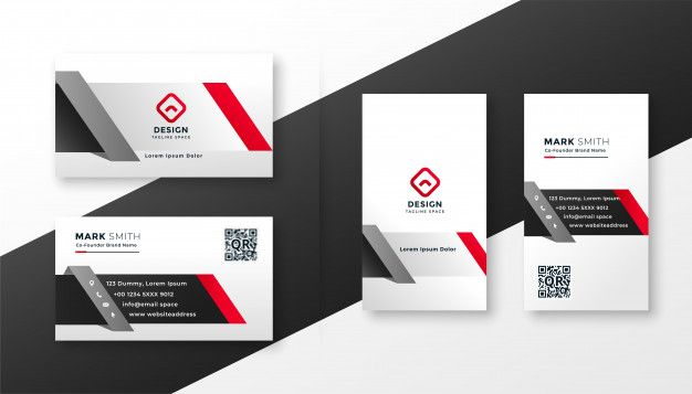 Baixe Modelo De Cartao Corporativo Em Cores Cinza Vermelho Ang Gratuitamente Business Cards Creative Templates Business Card Template Corporate Business Card Design